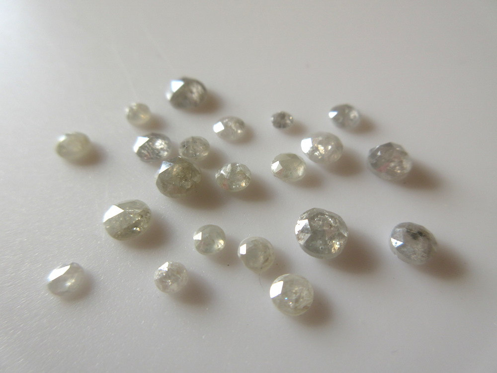 Rose Cut Cabochon Faceted White Diamond ON SALE 50/% 3 Pieces 4mm To 5mm Opaque White Rose Cut Diamonds Excellent CutHeightLustre