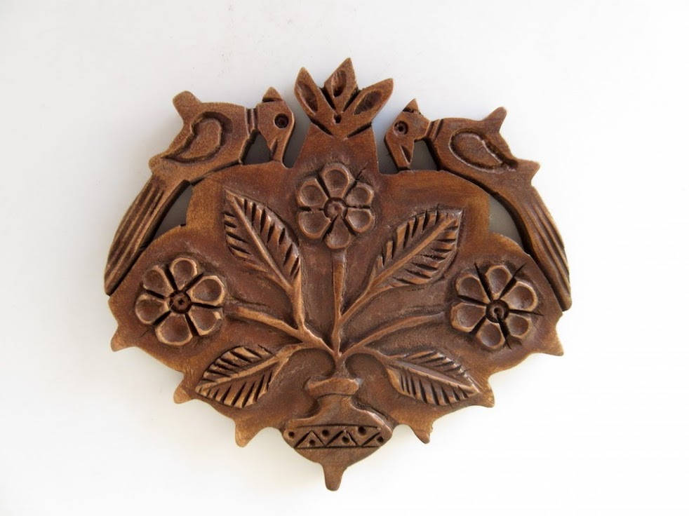 5 Pieces Hand Carved Teak Wood Flower Parrot Pendant Handmade Flower Pattern Pendant Necklace Wood Art And Craft Supplies Gds1046 16