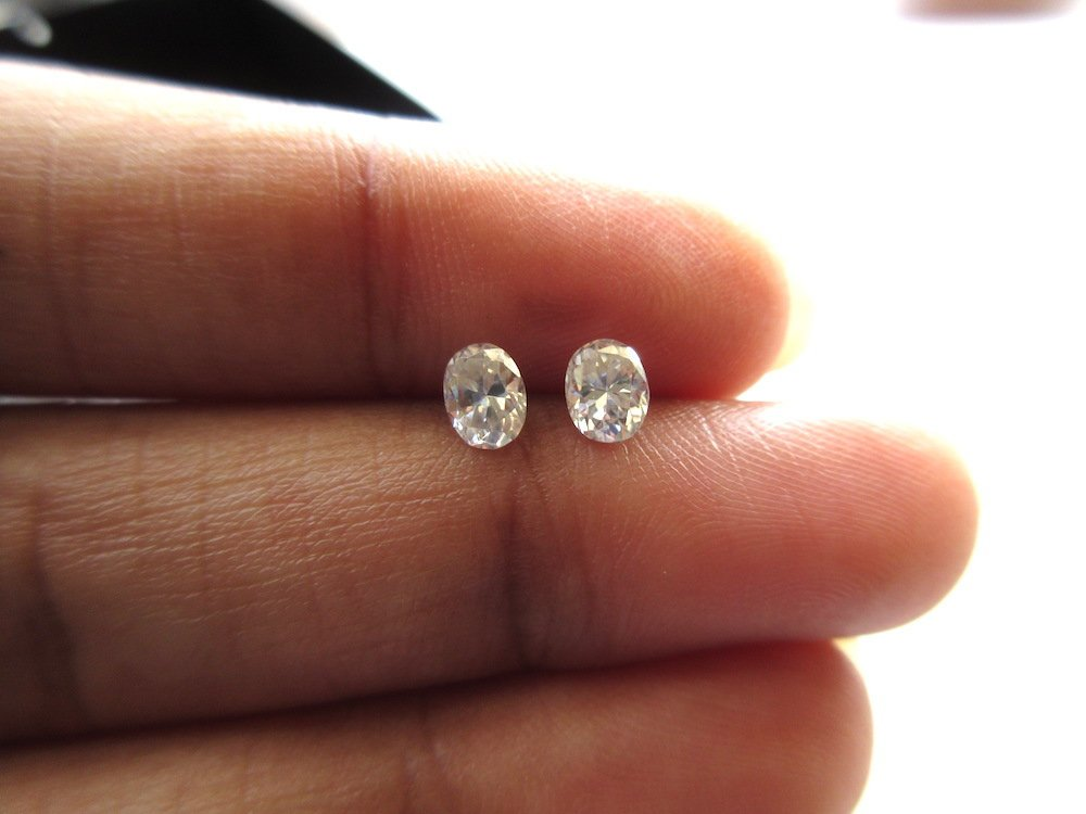 GHVS2 Colorless Moissanite For Ring MM14016 1 Piece 5mm Oval Cut Moissanite Diamond Loose