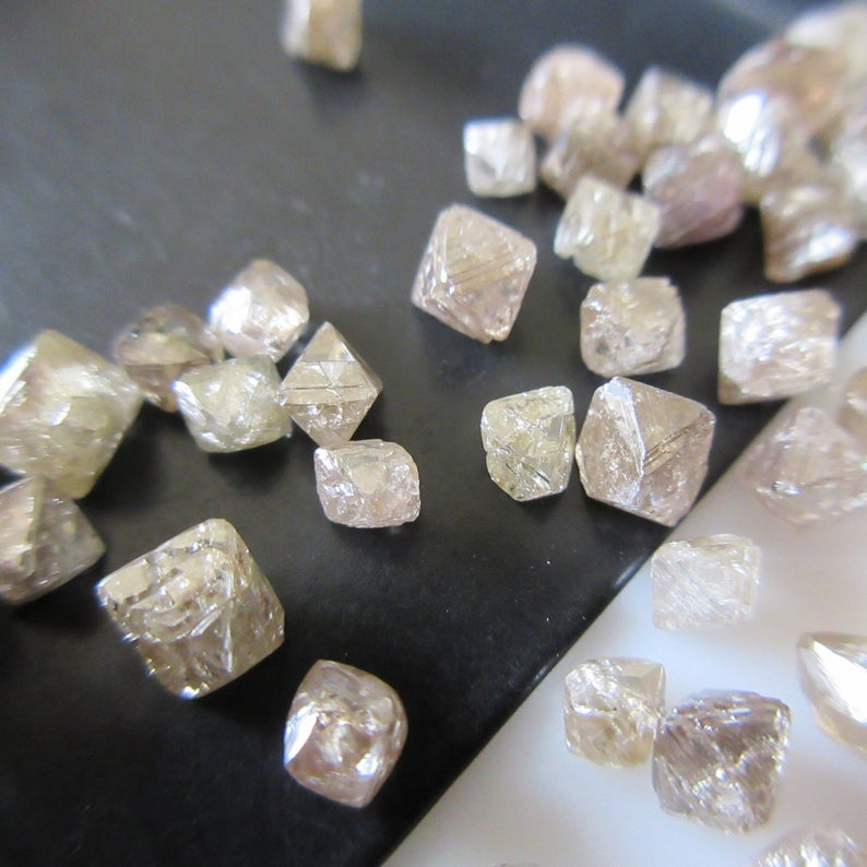 Cognac Diamonds Natural Raw Rough Diamonds Gdbs